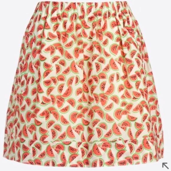 2263aa5bdd J. Crew Factory Skirts | J Crew Factory Watermelon Print Skirt ...